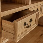 Edinburgh Natural Solid Oak Small Dresser  - Thumbnail 3