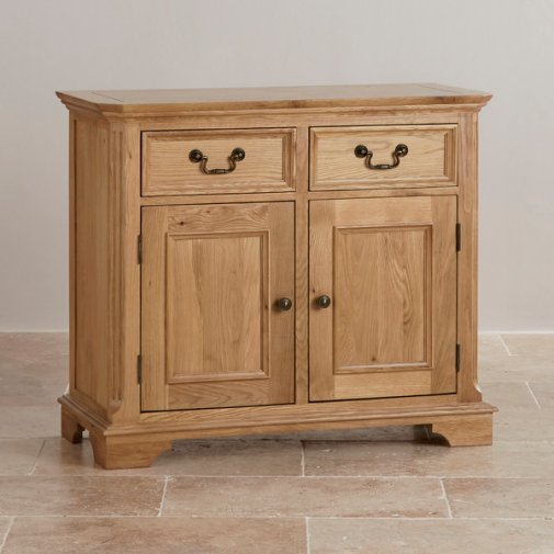 Edinburgh Natural Solid Oak Small Sideboard