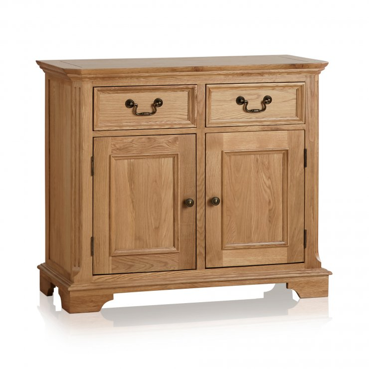 Edinburgh Natural Solid Oak Small Sideboard - Image 5