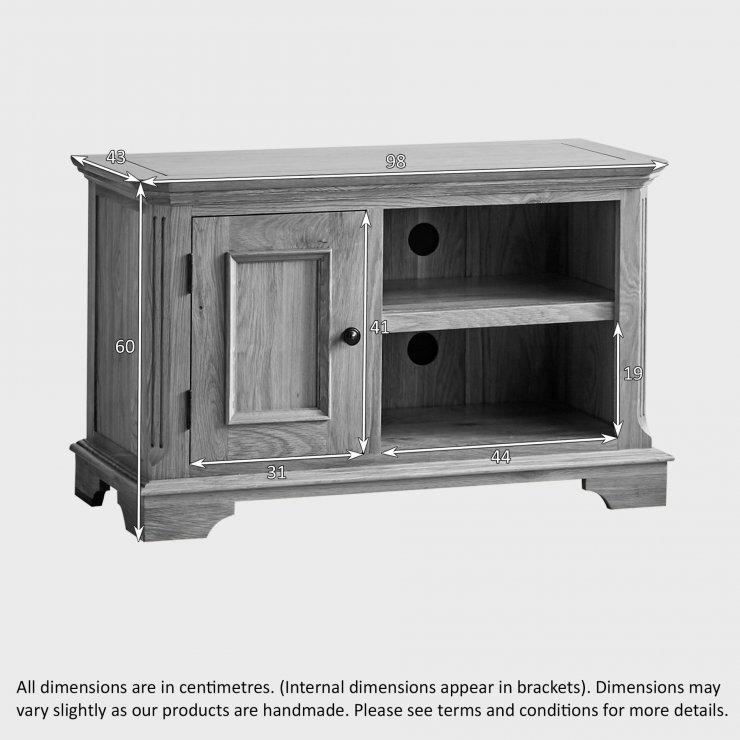 Edinburgh Natural Solid Oak Small TV Cabinet