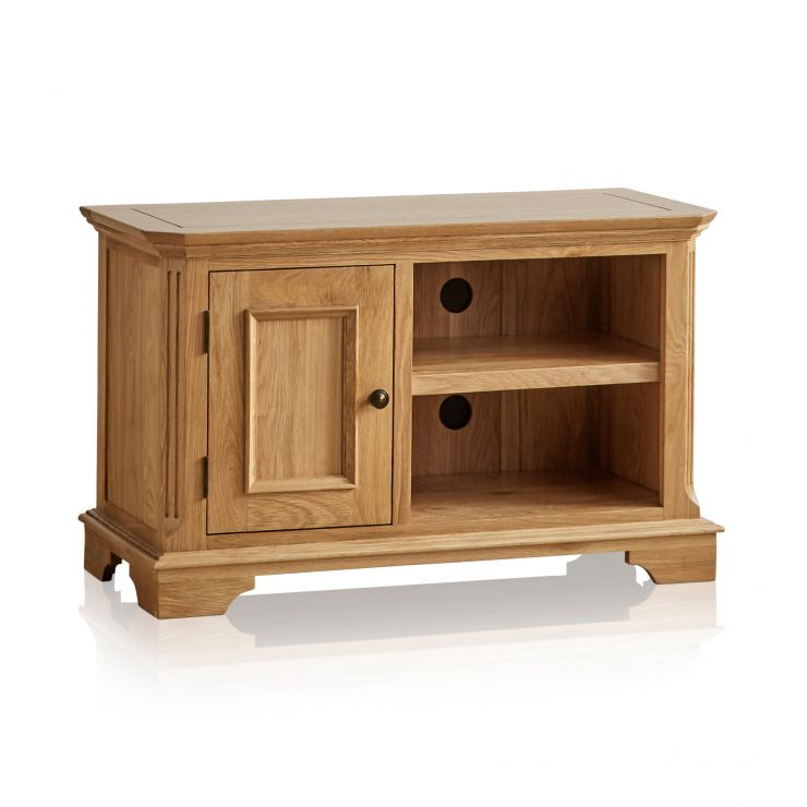 Edinburgh Natural Solid Oak Small TV Cabinet - Image 6