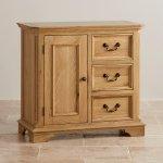 Edinburgh Natural Solid Oak Storage Cabinet - Thumbnail 2