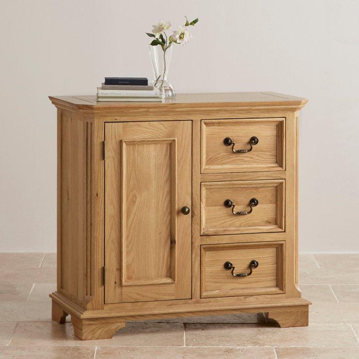 Edinburgh Natural Solid Oak Storage Cabinet