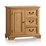 Edinburgh Natural Solid Oak Storage Cabinet - Thumbnail 1