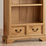 Edinburgh Natural Solid Oak Tall Bookcase - Thumbnail 4