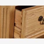 Edinburgh Natural Solid Oak Tall Bookcase - Thumbnail 5