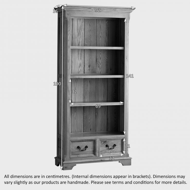 Edinburgh Natural Solid Oak Tall Bookcase