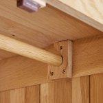 Edinburgh Natural Solid Oak Triple Wardrobe - Thumbnail 3