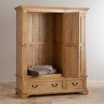 Edinburgh Natural Solid Oak Triple Wardrobe - Thumbnail 2