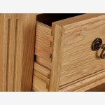 Edinburgh Natural Solid Oak Triple Wardrobe - Thumbnail 4