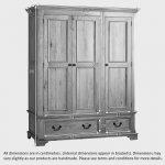 Edinburgh Natural Solid Oak Triple Wardrobe - Thumbnail 5
