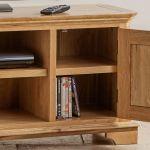 Edinburgh Natural Solid Oak Large TV Cabinet - Thumbnail 5