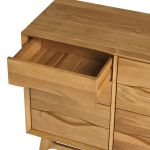 Ellipse Natural Solid Oak 6 Drawer Chest - Thumbnail 4