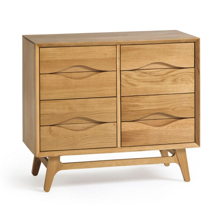 Ellipse Natural Solid Oak 6 Drawer Chest
