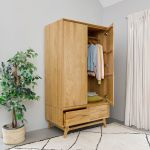 Ellipse Natural Solid Oak Double Wardrobe - Thumbnail 1