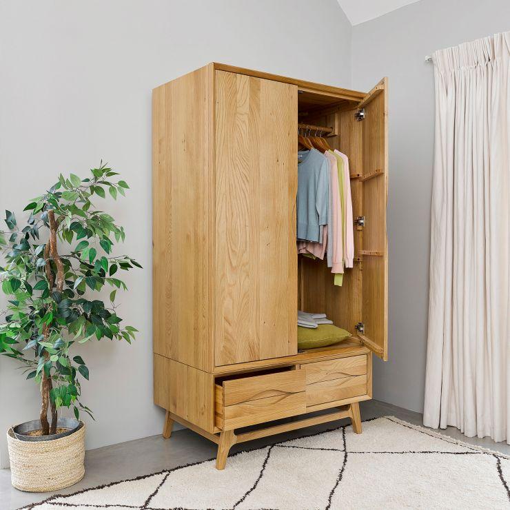 Ellipse Natural Solid Oak Double Wardrobe