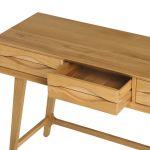 Ellipse Natural Solid Oak Dressing Table - Thumbnail 4
