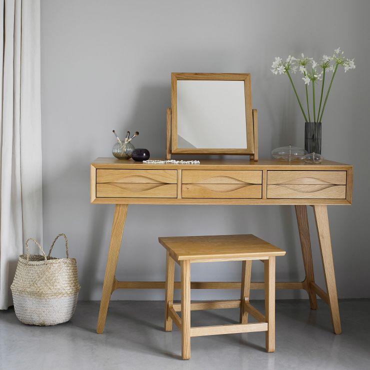 Ellipse Natural Solid Oak Dressing Table