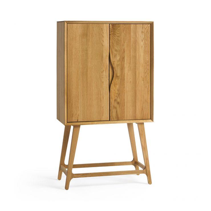Ellipse Natural Solid Oak Drinks Cabinet