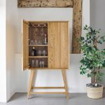 Ellipse Natural Solid Oak Storage and Drinks Cabinet - Thumbnail 1