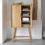 Ellipse Natural Solid Oak Storage and Drinks Cabinet - Thumbnail 2