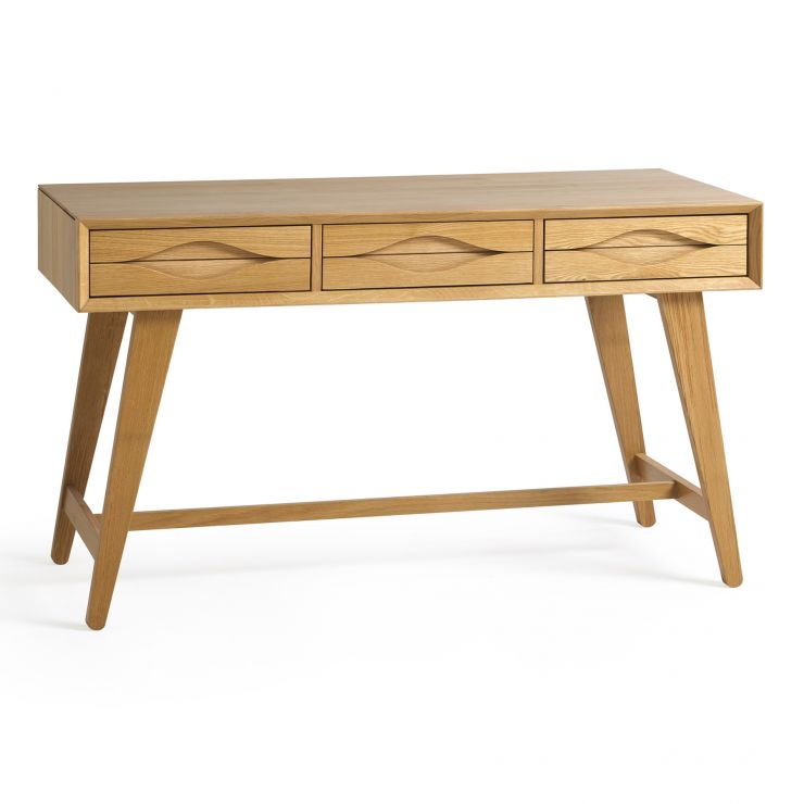 Ellipse Natural Solid Oak Laptop Desk