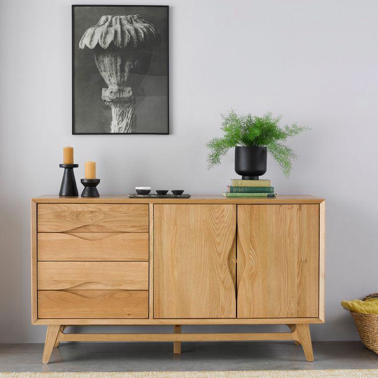 Ellipse Natural Solid Oak Large Sideboard