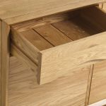 Ellipse Natural Solid Oak Small Sideboard - Thumbnail 5