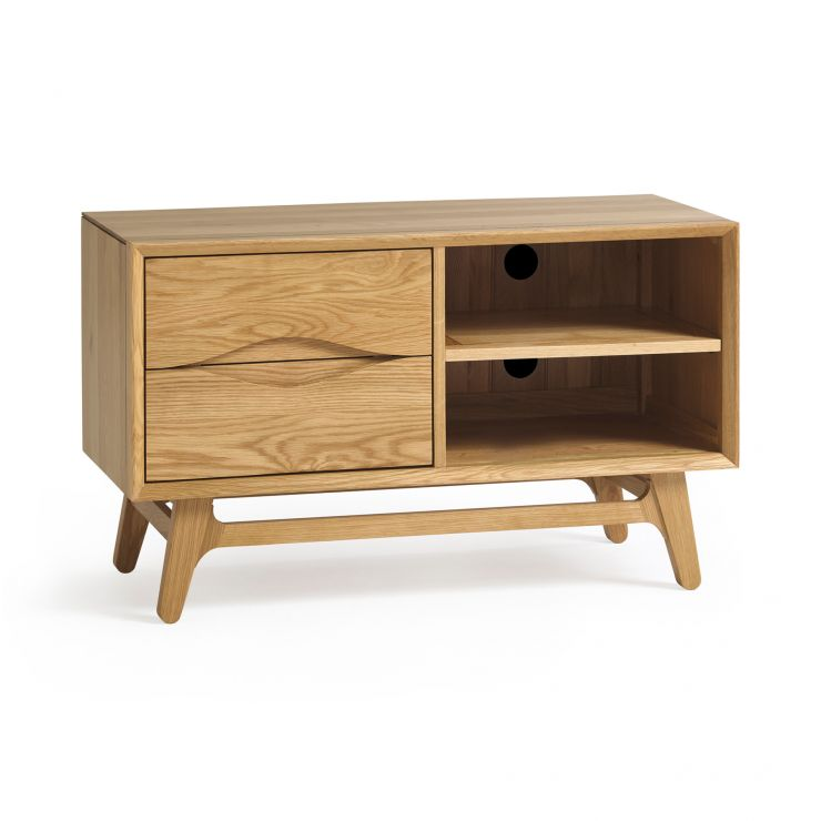 Ellipse Natural Solid Oak Small TV Unit