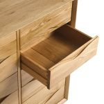 Ellipse Natural Solid Oak Wideboy Chest - Thumbnail 4