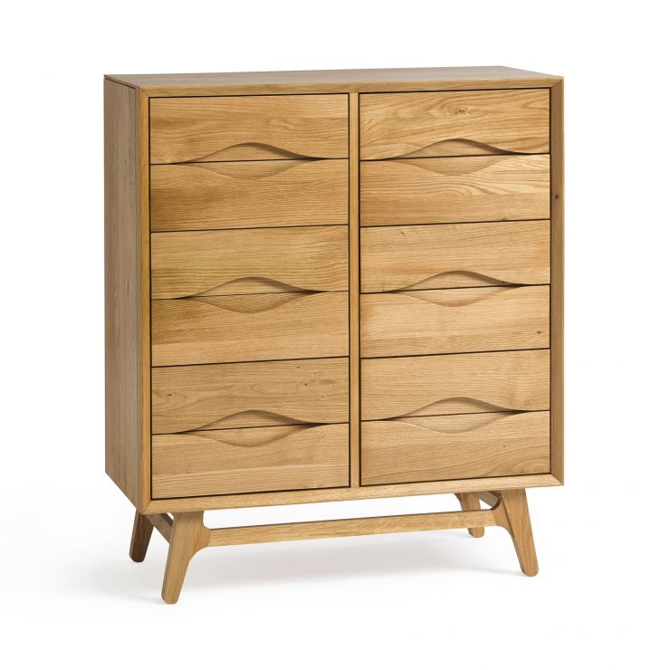 Ellipse Natural Solid Oak Wideboy Chest