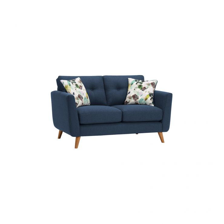 Evie 2 Seater Sofa in Blue Fabric