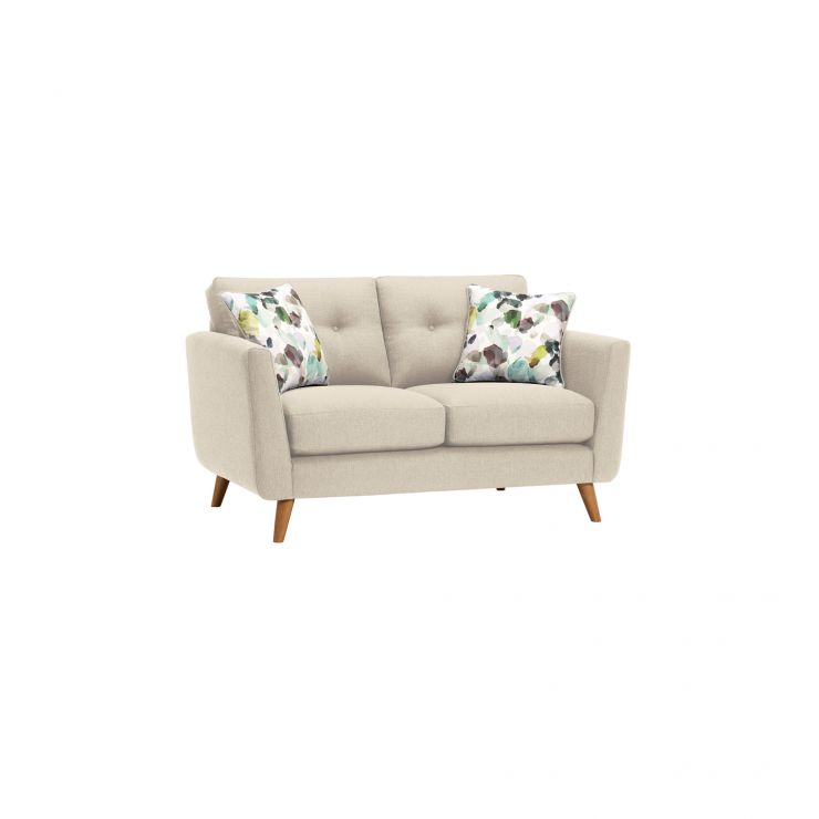 Evie 2 Seater Sofa in Ivory Fabric