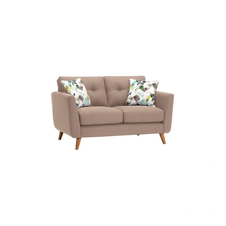 Evie 2 Seater Sofa in Mink Fabric