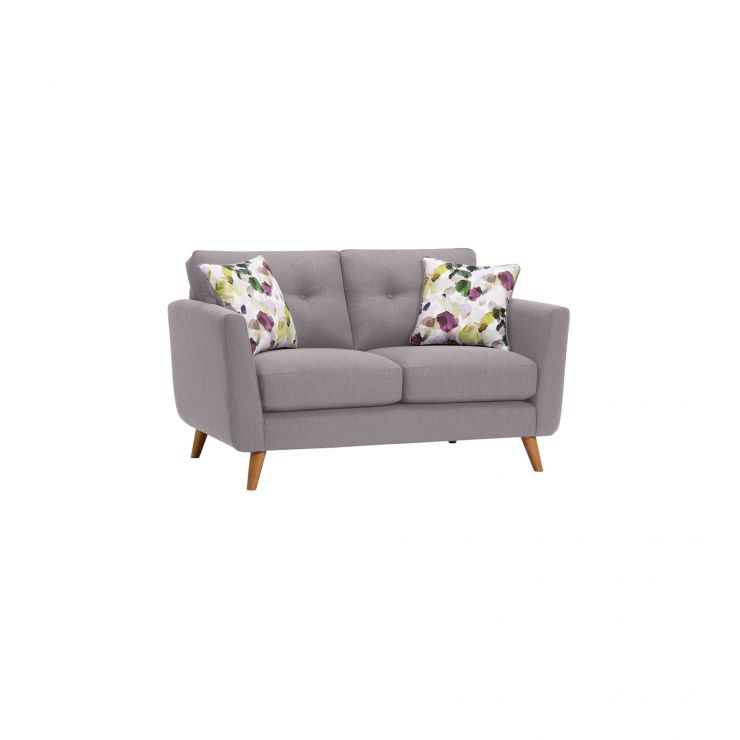 Evie 2 Seater Sofa in Silver Fabric - Image 1