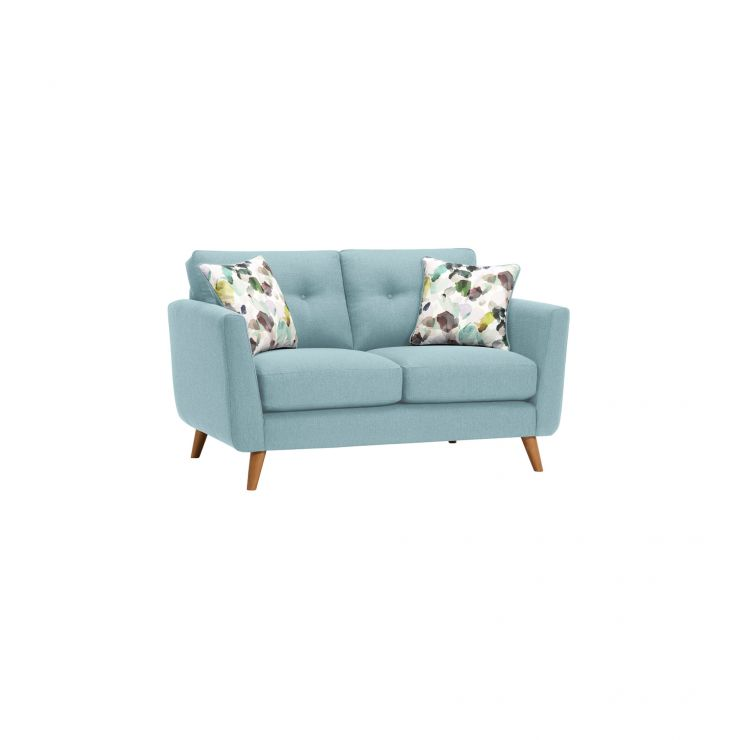 Evie 2 Seater Sofa in Sky Fabric - Image 9
