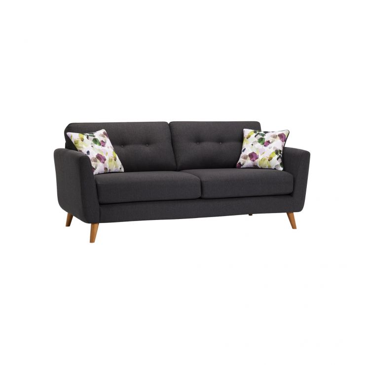 Evie 3 Seater Sofa in Charcoal Fabric - Image 10