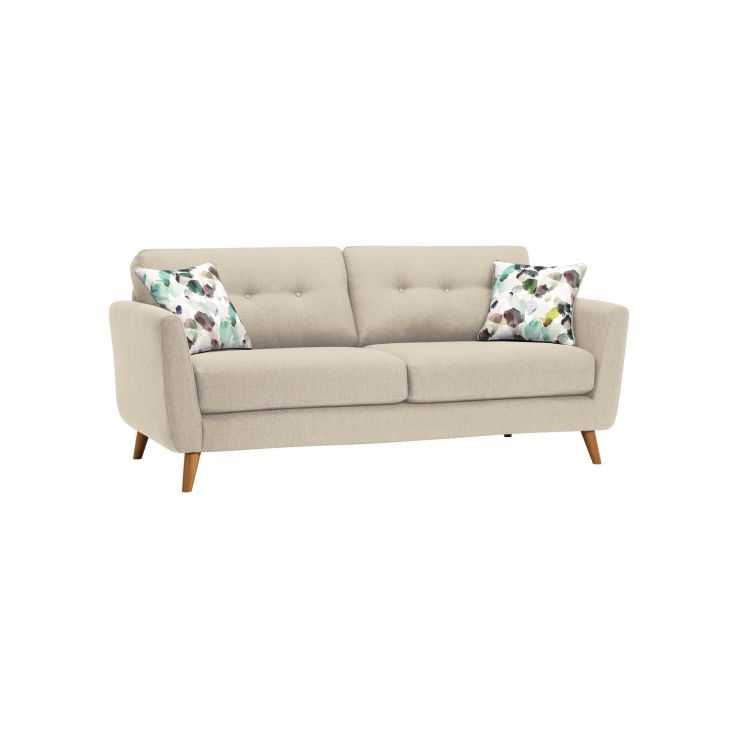 Evie 3 Seater Sofa in Ivory Fabric