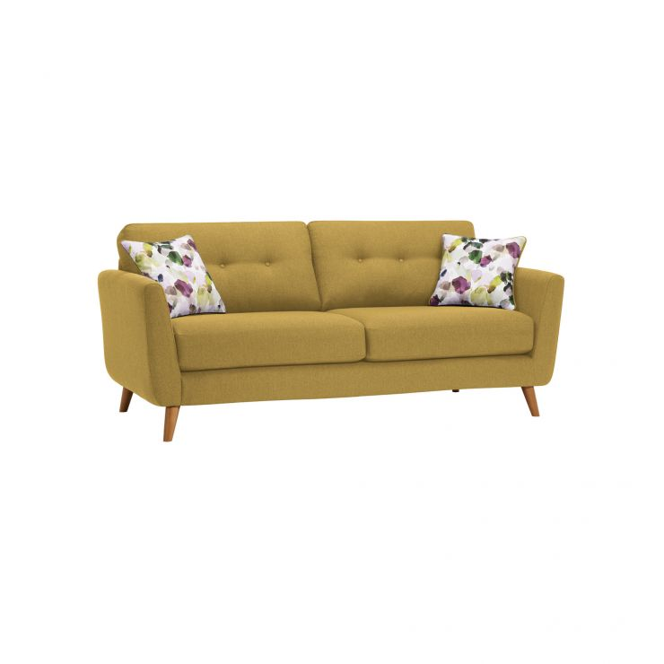Evie 3 Seater Sofa in Lime Fabric - Image 8