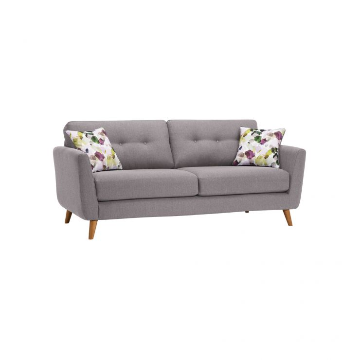 Evie 3 Seater Sofa in Silver Fabric