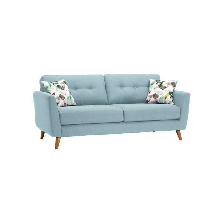 Evie 3 Seater Sofa in Sky Fabric