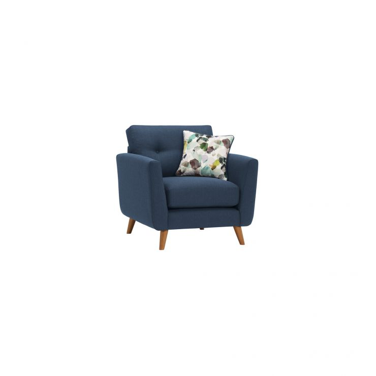 Evie Armchair in Blue Fabric