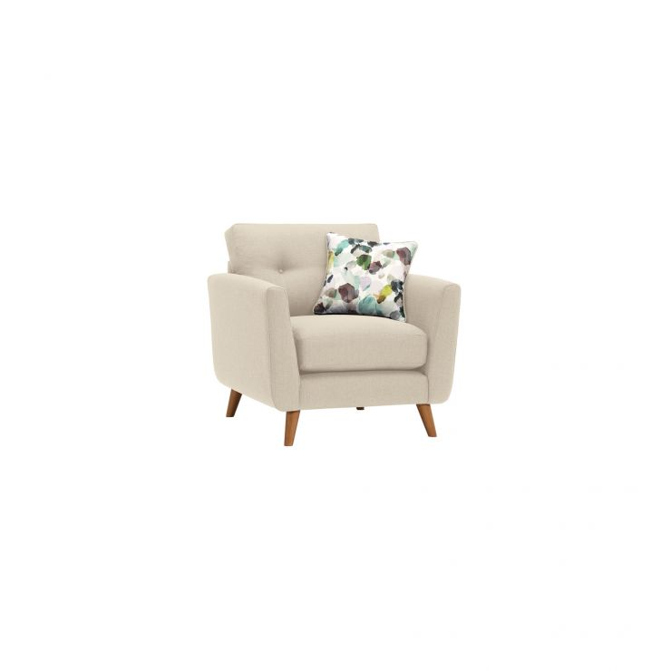Evie Armchair in Ivory Fabric