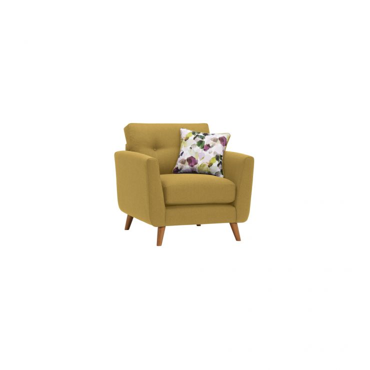 Evie Armchair in Lime Fabric