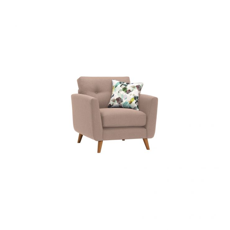 Evie Armchair in Mink Fabric