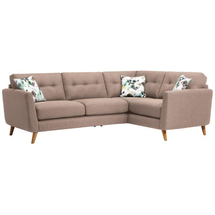 Evie Left Hand Corner Sofa in Mink Fabric