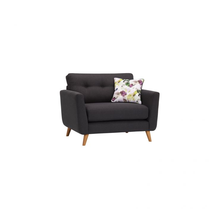 Evie Loveseat in Charcoal Fabric - Image 10