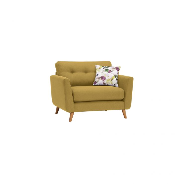 Evie Loveseat in Lime Fabric