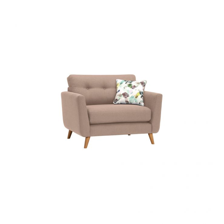 Evie Loveseat in Mink Fabric