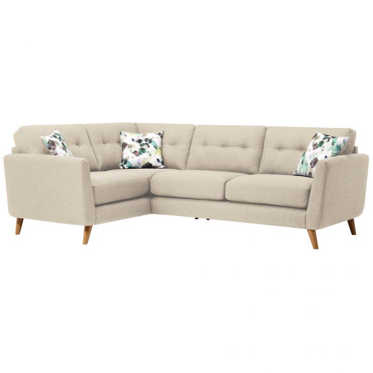 Evie Right Hand Corner Sofa in Ivory Fabric